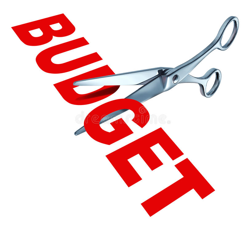 Tagli di bilancio illustrazione vettoriale