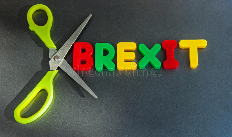 Tagli di Brexit fotografie stock libere da diritti