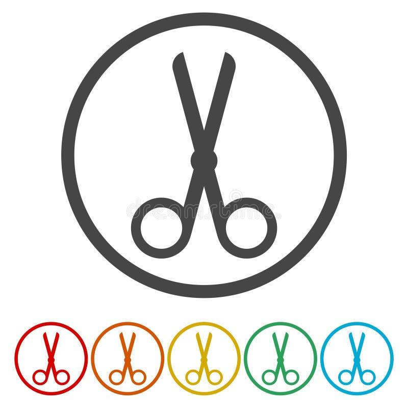 Tagli, forbici, lavagna per appunti o icona di modo royalty illustrazione gratis