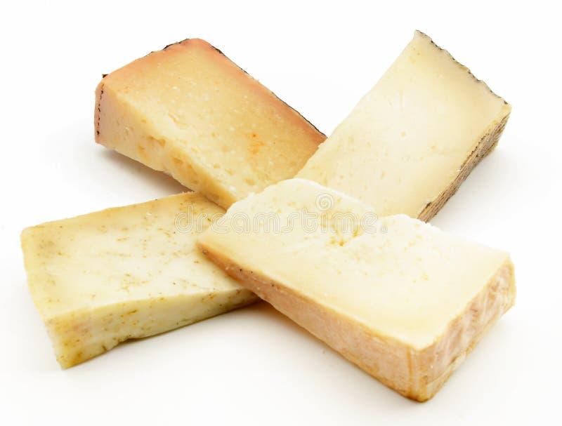 Tagli i formaggi fotografia stock
