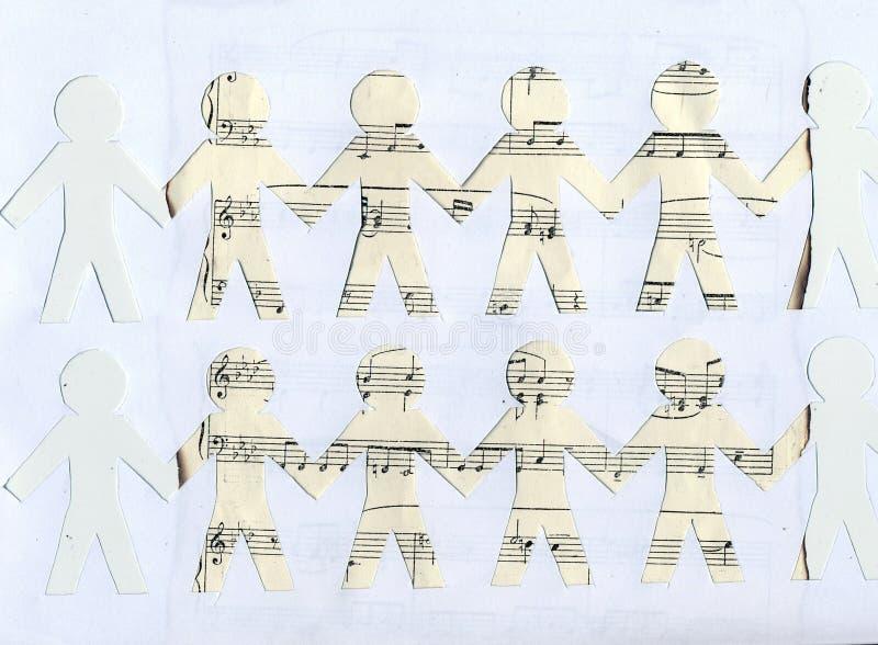 Tagli la carta su un vecchio strato di musica immagine stock libera da diritti