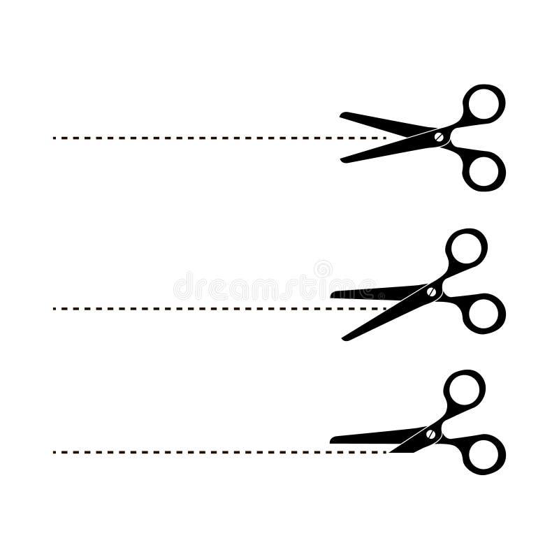 Tagli qui le forbici Illustrazione di vettore illustrazione vettoriale