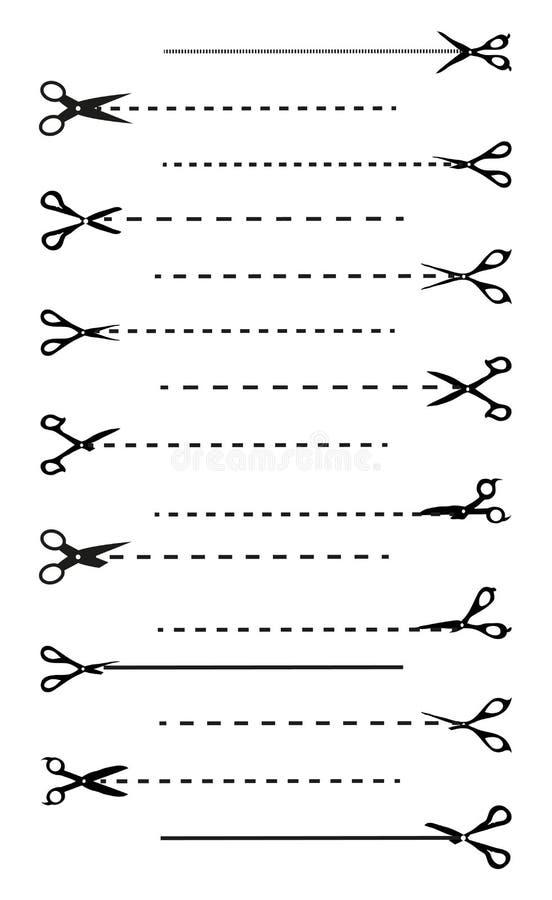 Tagli qui le icone messe illustrazione vettoriale