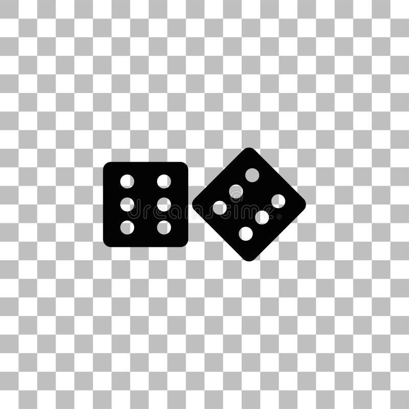 Taglia il piano a cubetti dell'icona illustrazione vettoriale