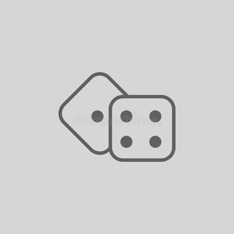 Taglia il segno a cubetti di vettore isolato icona illustrazione vettoriale