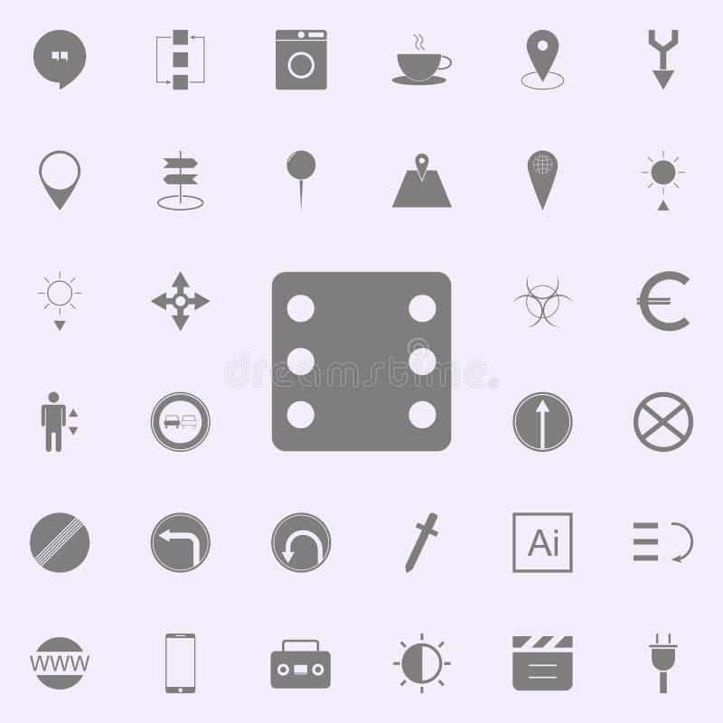 Taglia l'icona a cubetti insieme universale delle icone di web per il web ed il cellulare illustrazione vettoriale