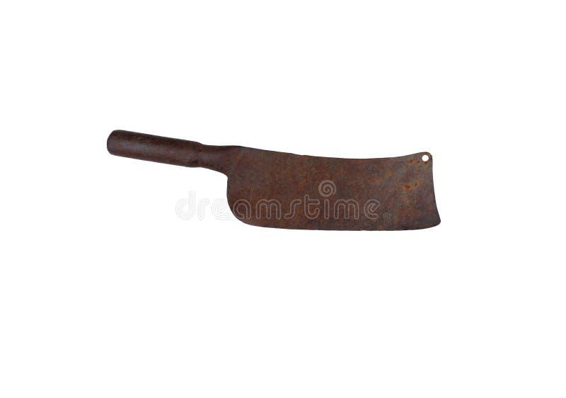 Tagliando coltello a pezzi isolato su bakcground bianco fotografia stock libera da diritti
