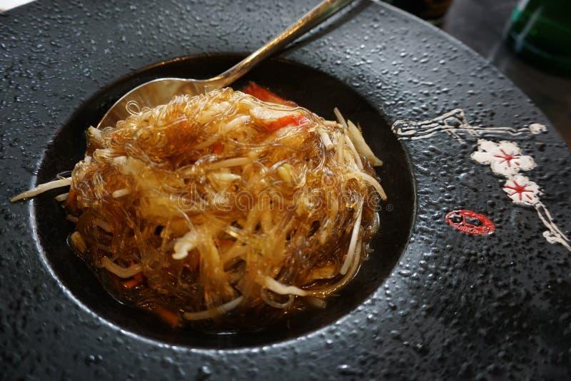 Tagliatella cinese della soia immagini stock