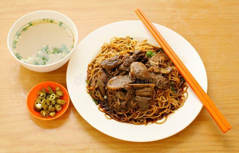 Tagliatella dell'anatra. alimento Asia fotografia stock libera da diritti