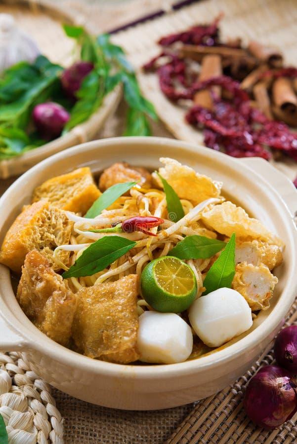 Tagliatella di Singapore del curry fotografie stock libere da diritti