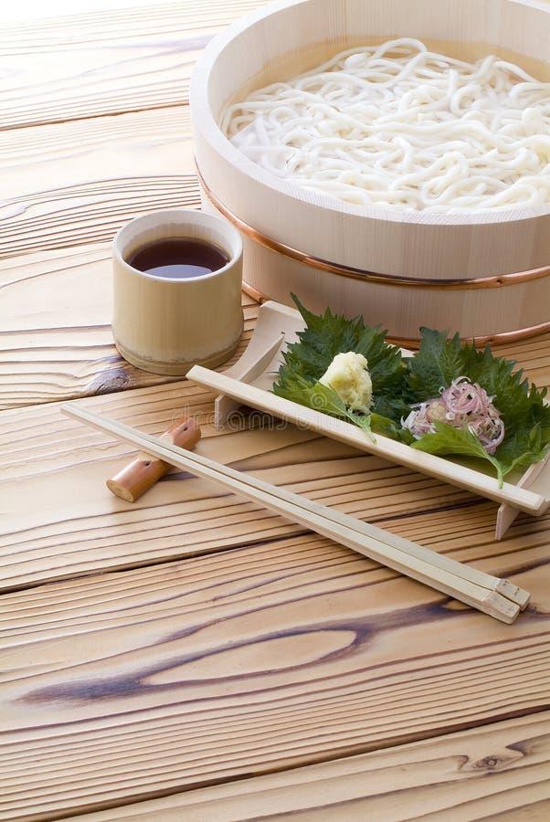 Tagliatella giapponese ?Udon? fotografia stock