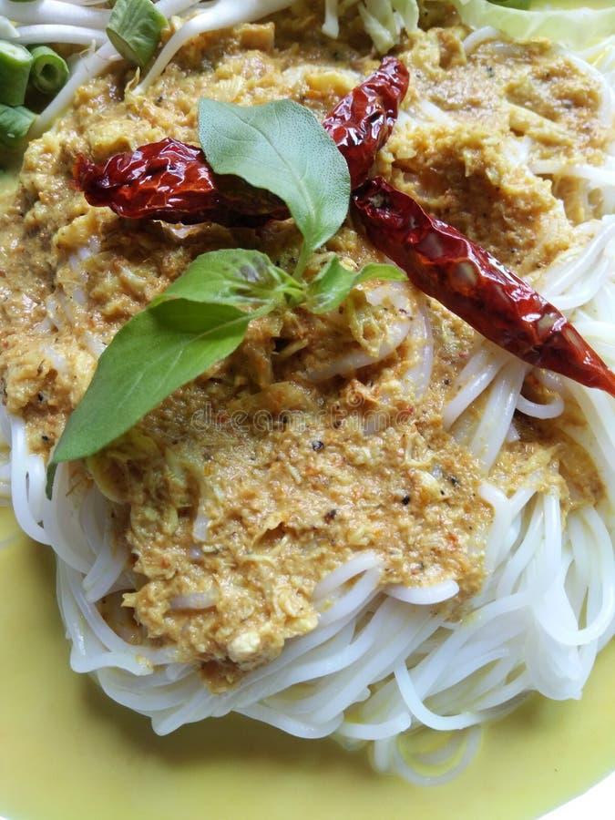 Tagliatella tailandese, piatto piccante immagini stock