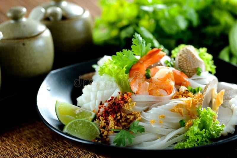 Tagliatella tailandese piccante fotografie stock libere da diritti