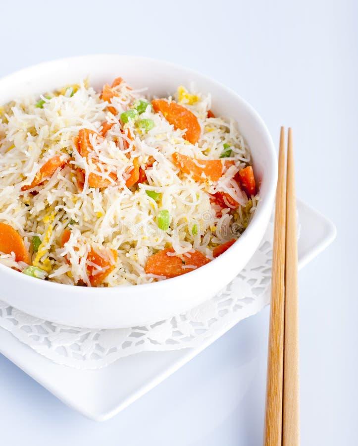 Tagliatelle di riso asiatiche fotografia stock libera da diritti
