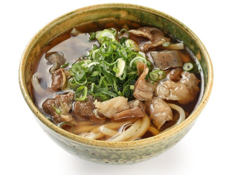 Tagliatelle di Udon, cucina giapponese fotografie stock