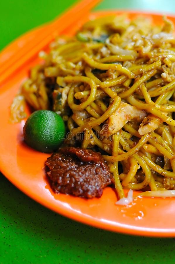 Tagliatelle fritte stile del Malay fotografie stock