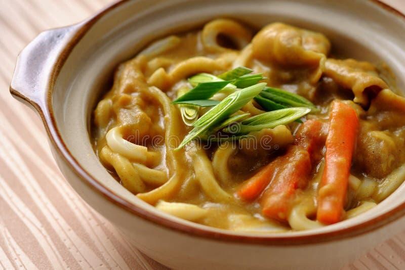 Tagliatelle giapponesi di Udon del curry fotografie stock libere da diritti
