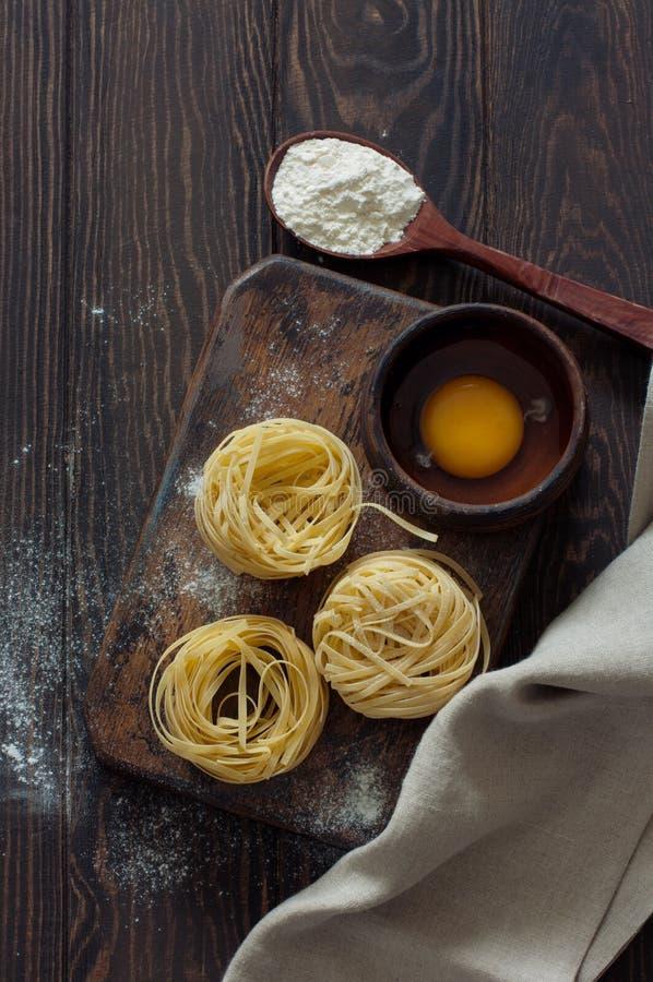 Tagliatelle italien de pâtes photo stock