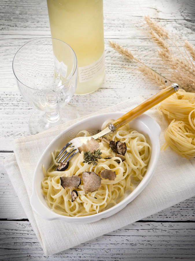 Download Tagliatelle with truffle stock photo. Image of cook, plate - 20441112