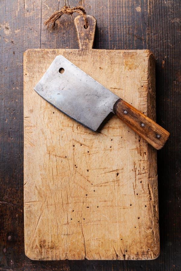 Tagliere e mannaia di carne immagini stock libere da diritti
