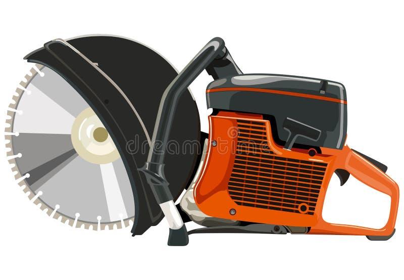 Taglierine arancio di potere illustrazione vettoriale