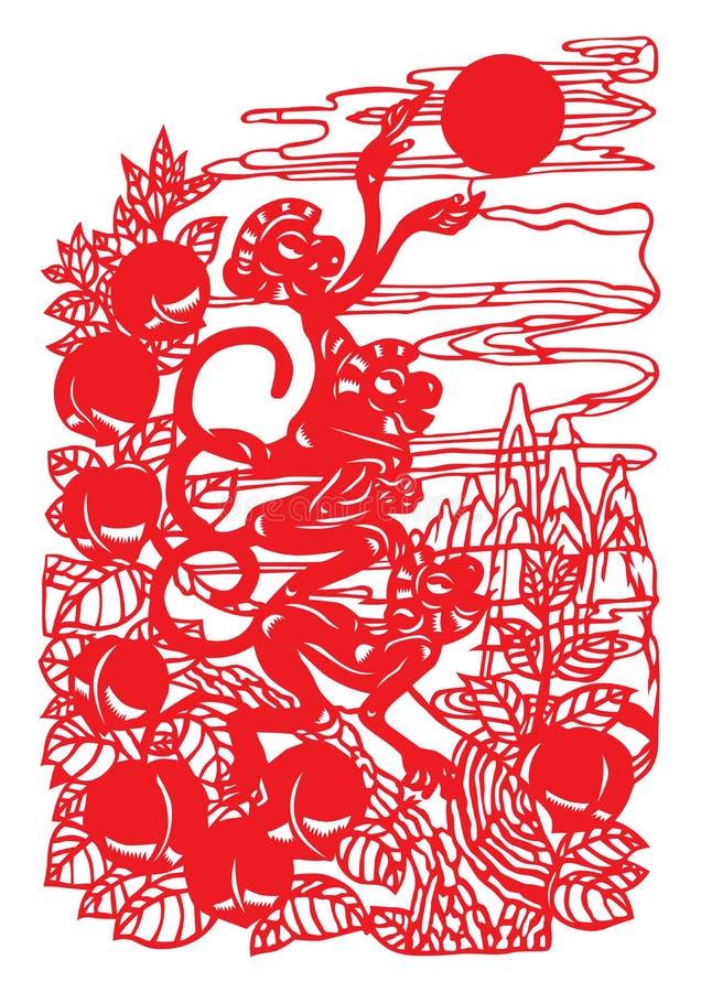 Taglio del documento cinese royalty illustrazione gratis