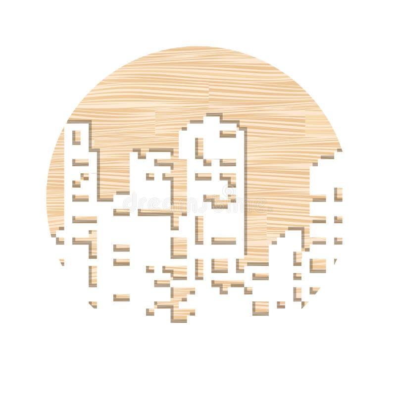 Taglio del laser degli stampini illustrazione vettoriale