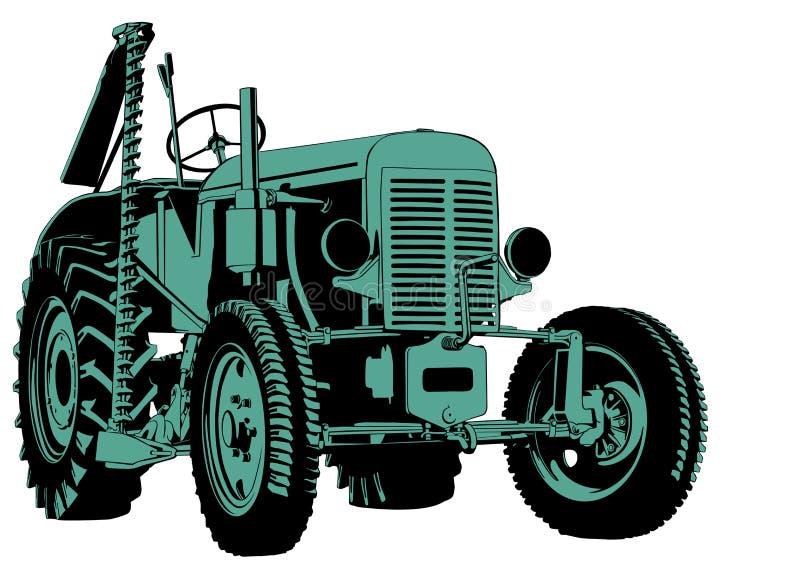Taglio del trattore illustrazione vettoriale