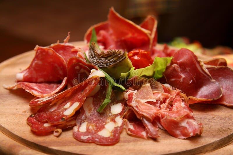 Taglio della carne immagini stock