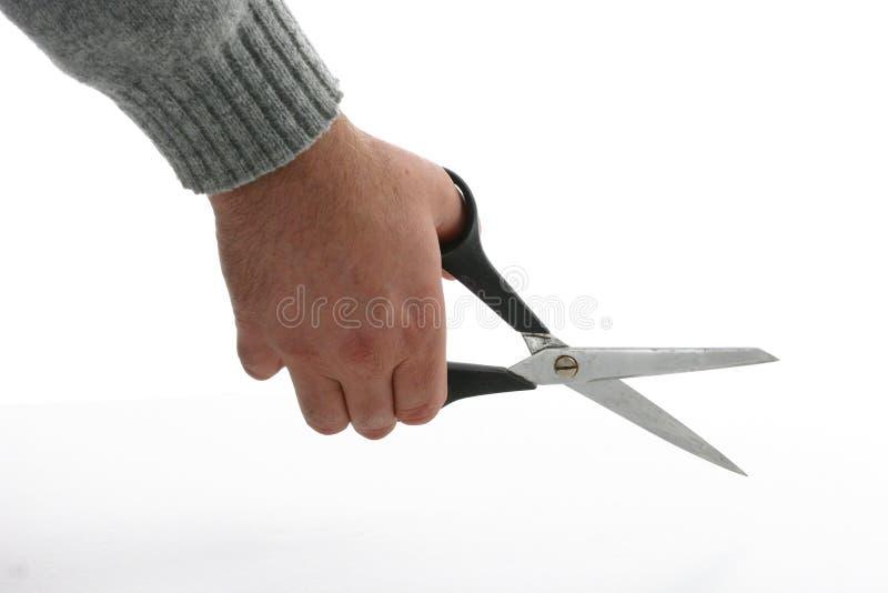 Taglio delle forbici immagine stock