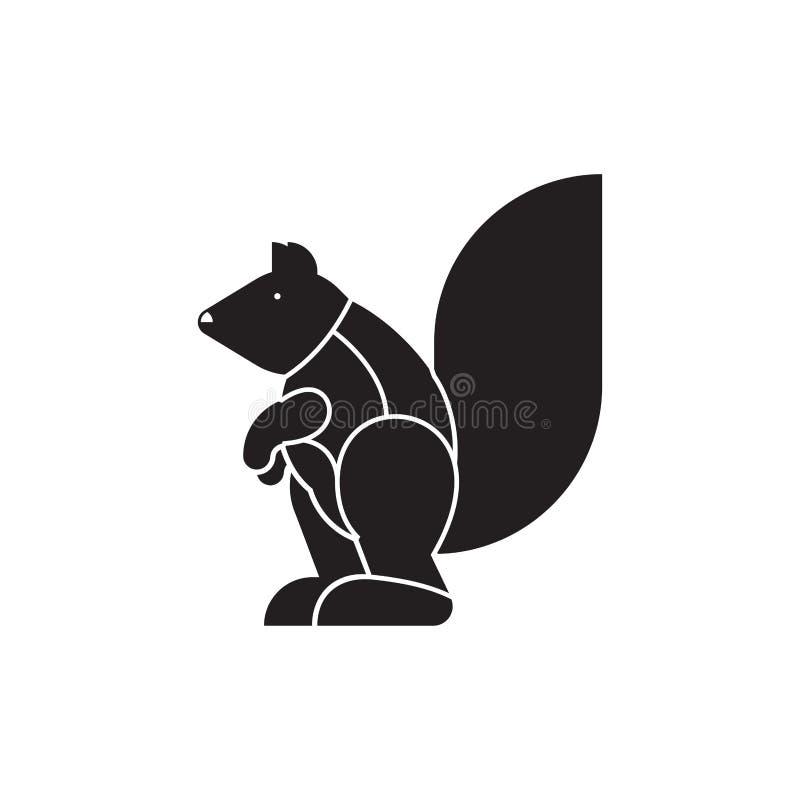 Taglio dello scoiattolo della carne linee di schema della siluetta del panino di p differente royalty illustrazione gratis