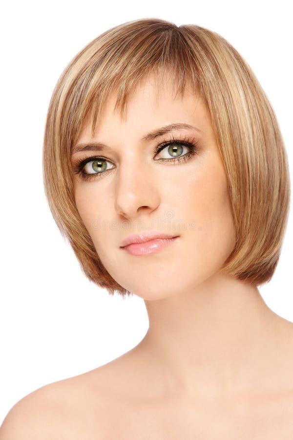Taglio di capelli alla moda immagine stock