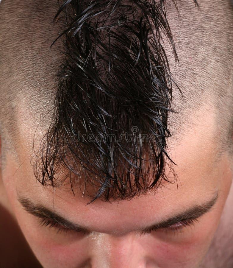 Taglio di capelli del Mohawk immagini stock