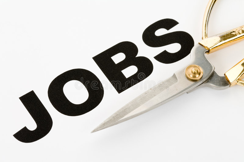 Taglio di job fotografie stock