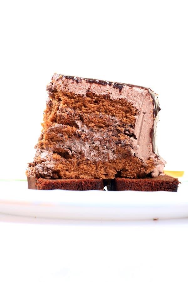Taglio di verticale della fetta della torta della foresta nera fotografie stock