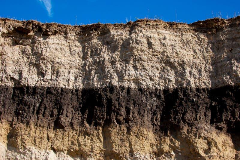 Taglio geologico fotografie stock libere da diritti