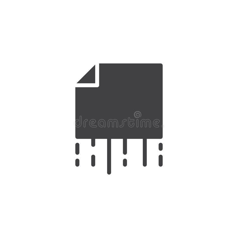 Tagliuzzamento dell'icona di vettore delle carte royalty illustrazione gratis