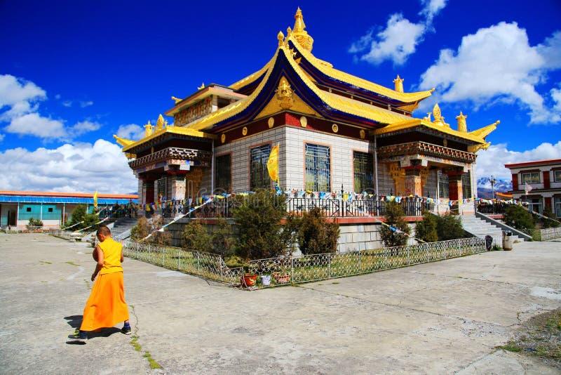 Tagong świątynia, sławna Sakya Tybetańskiego buddyzmu świątynia fotografia royalty free