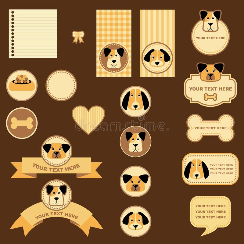 Download Tags and labels with dogs stock vector. Image of friend - 28517415