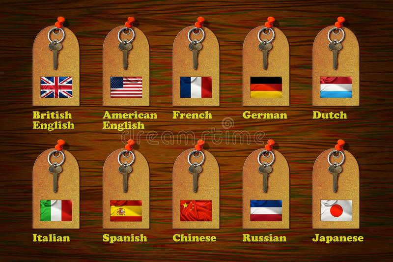 Tags of Languages royalty free illustration