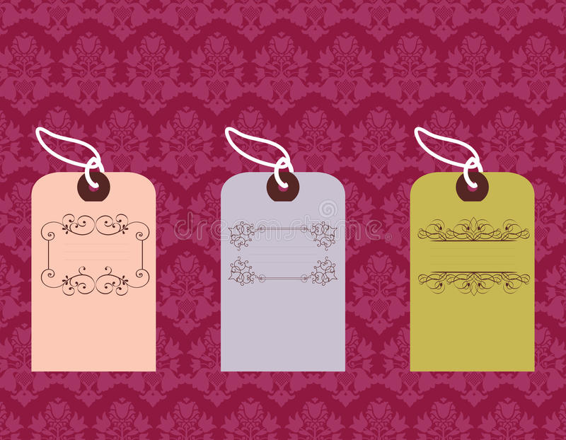 Download Tags With Ornate Designs Royalty Free Stock Image - Image: 13049696