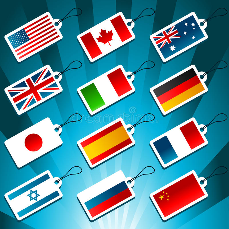 Download Tags Representing World Flags Stock Vector - Illustration: 22512692