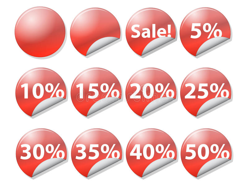 Tags on selling retail vector illustration