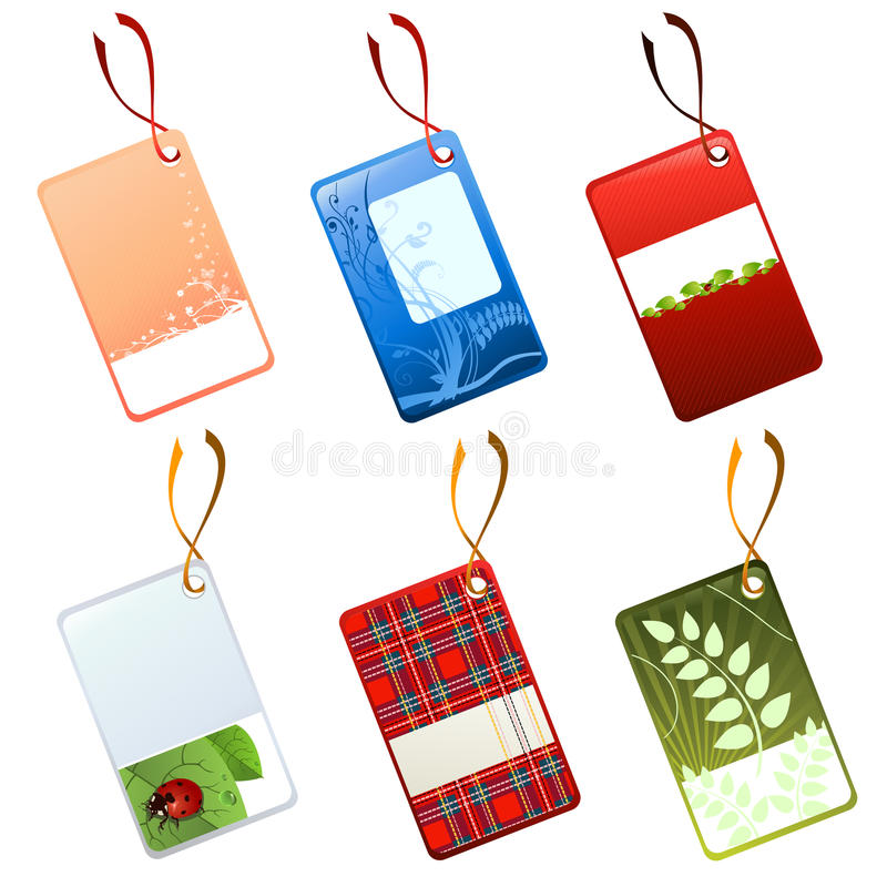 Download Tags set stock vector. Image of marketing, label, curly - 10952493