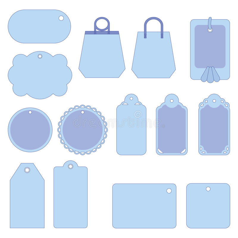 Download Tags, set stock vector. Image of blank, merchandise, place - 22210960