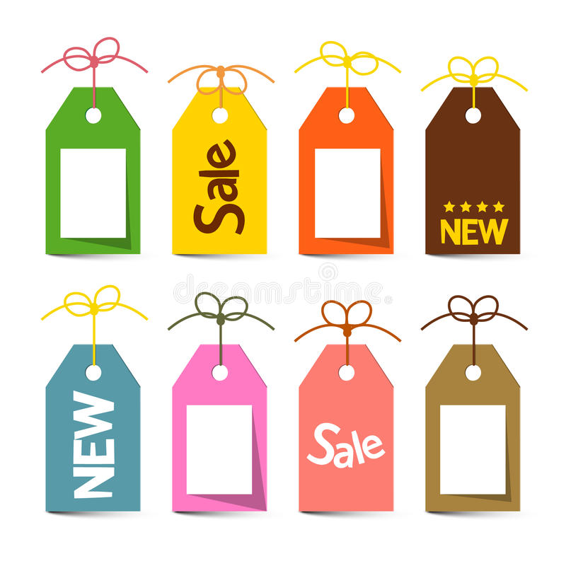 Download Tags With Strings. Vector Labels With Strings Stock Illustration - Image: 85840151