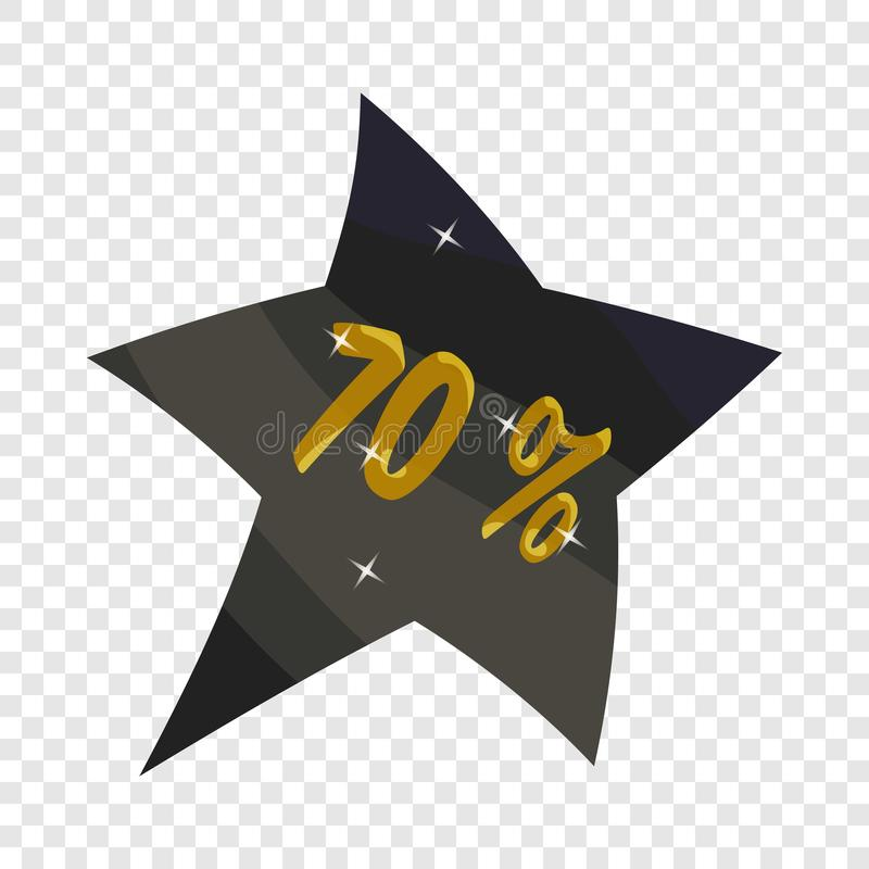 Tagstern siebzig-Prozent-Rabattikone vektor abbildung