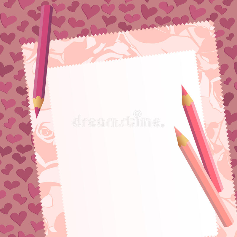 Tah on the romantic background vector illustration