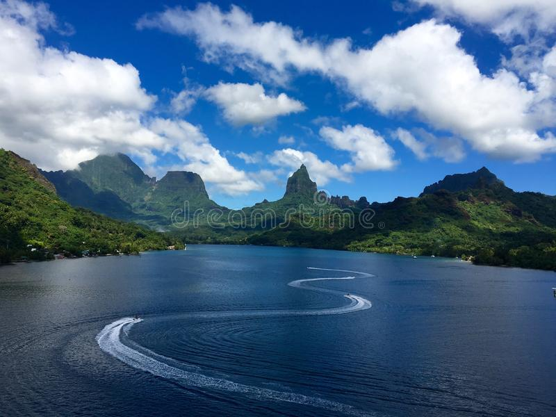 Tahiti. Life o Tahiti mount royalty free stock images