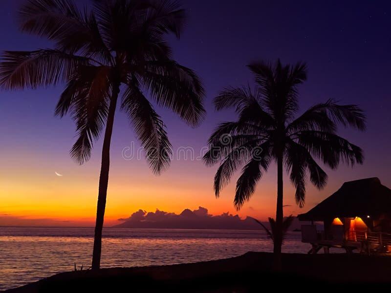 Tahiti semesterort fotografering för bildbyråer